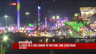 One Child is Dead After Four Cases Of E-Coli Are Linked To The Del Mar Fair