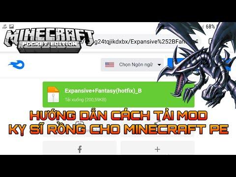 Hướng dẫn cách tải Mod Kỵ Sĩ Rồng cho Minecraft PE 1.14 / Khôi Wither