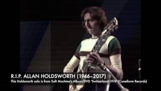 """ALLAN HOLDSWORTH (jeez. Allan Holdsworth is gone.) """"The Man Who Cha..."""