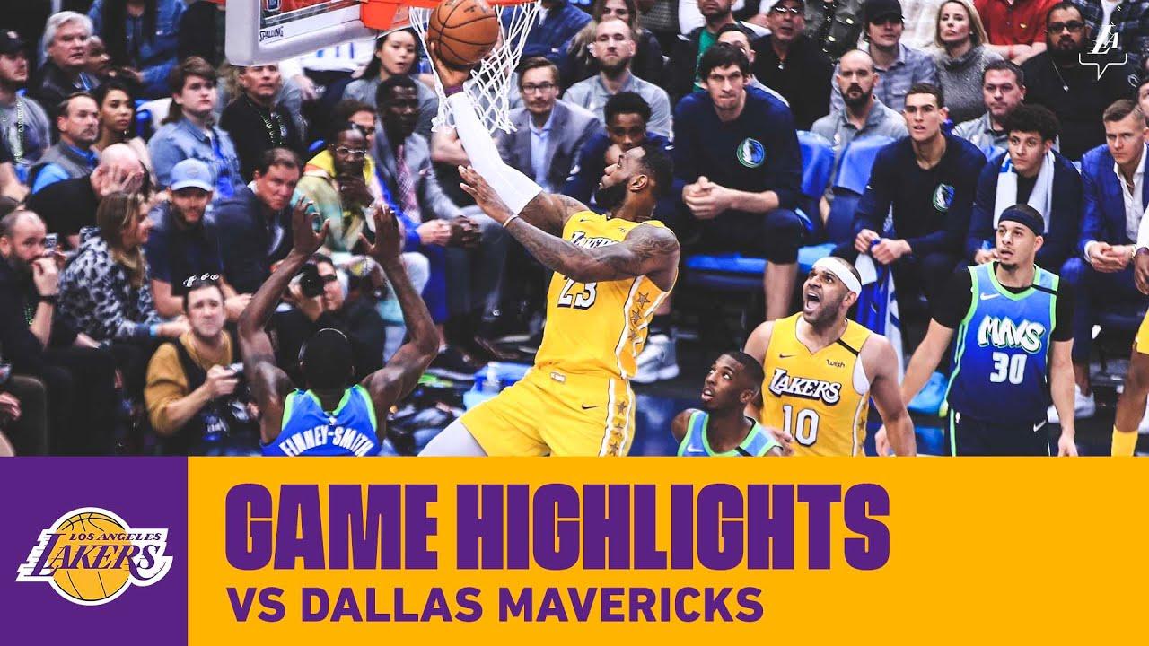 Highlights Los Angeles Lakers At Dallas Mavericks 1 10 20