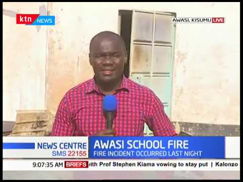 What caused fire at Awasi Boys High School