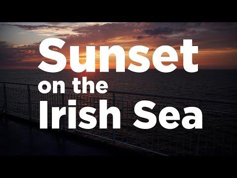 Crossing the Irish Sea at Sunset