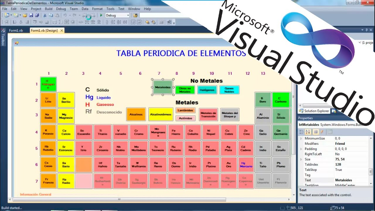 Tabla periodica visual studio 2010 vb youtube tabla periodica visual studio 2010 vb urtaz