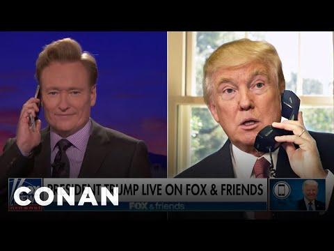 Trump Calls Into CONAN To Discuss The Big News  - CONAN on TBS
