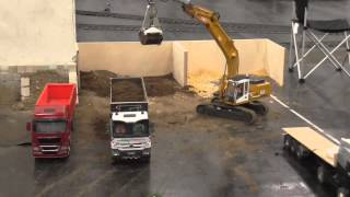BIG RC CONSTRUCTION SITE! AMAZING RC AREA!  STRONG AND HEAVY RC MACHINES!
