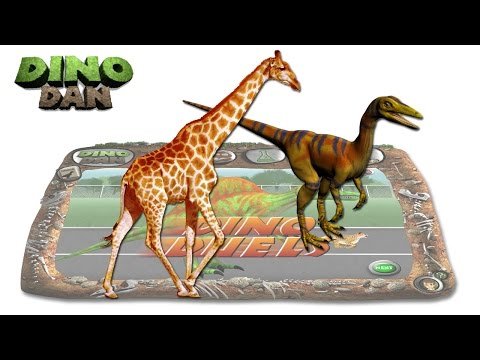 DINO DAN : DINO DUELS #24 - Compsognathus VS Giraffe @Make For Kids