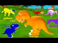 Dino Colors For Children To Learn And Have Fun With Dinosaurs - Colours Videos For Children