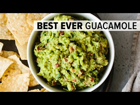BEST EVER GUACAMOLE | easy, fresh, homemade guacamole