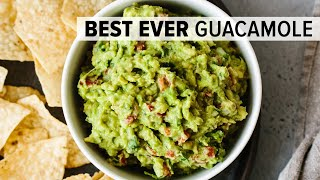 BEST EVER GUACAMOLE | easy, fresh, homemade guacamole recipe