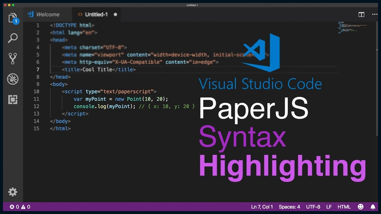 How to Add Paperscript Syntax Highlighting to Visual Studio Code