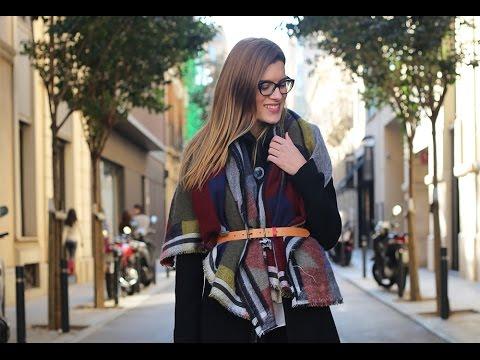 SilviaBoschBlog - 3 formas de llevar una maxi-bufanda - YouTube