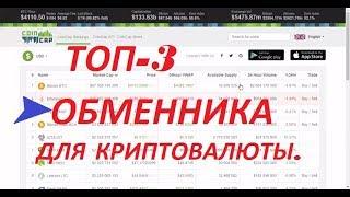 ТОП-3 ОБМЕННИКА ДЛЯ КРИПТОВАЛЮТЫ. купить криптовалюту. криптовалюта 2017.