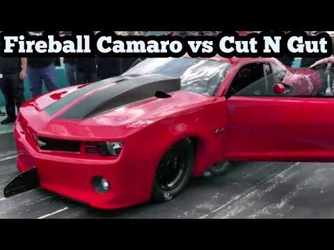 Fireball Camaro vs Cut N Gut Nitrous Cutlass at Bounty Hunters No Prep