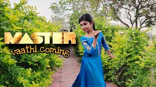 Semi classical - Vaathi coming   One minute cover   Master   Kanya Ramesh