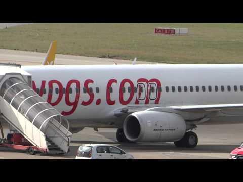 TC-CPB Pegasus Airlines 737-800 parking at Hamburg airport