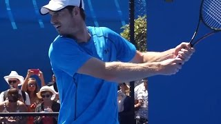 Andy Murray: Training Day - Australian Open 2015