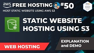 How to host a webṡite for FREE using AWS? | Static Website Hosting with S3