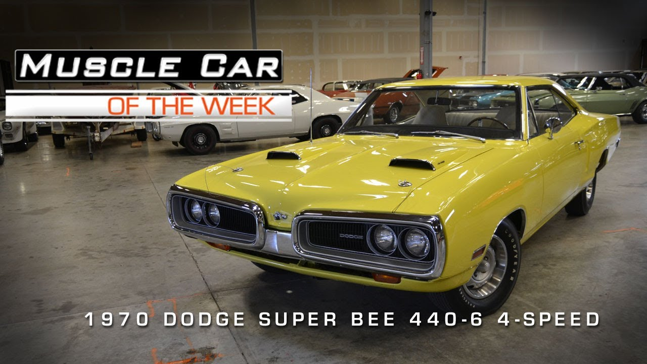 Muscle Car Of The Week Video 21 1970 Dodge Super Bee 440 6 Pack Youtube