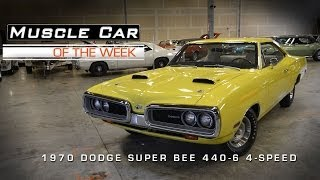 Muscle Car Of The Week Video #21: 1970 Dodge Super Bee 440 6-Pack