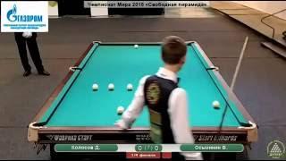 Чемпионат мастеров по русскому бильярду 2015. Колосов - Осьминин
