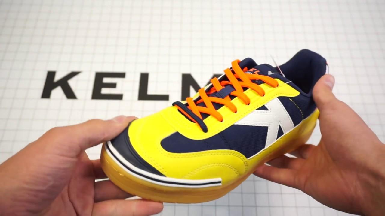 Арт. 55826-247. Футзалки Kelme TRUENO SALA 2.0 желтые с синим .