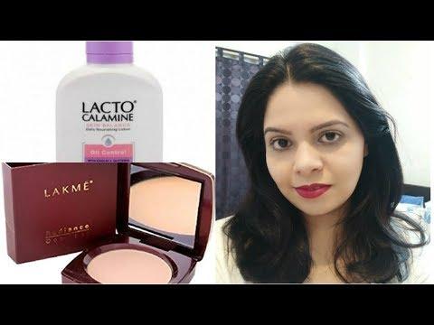 daily-makeup-using-lacto-calamine-&-lakme-compact-powder shimmeringshraddha