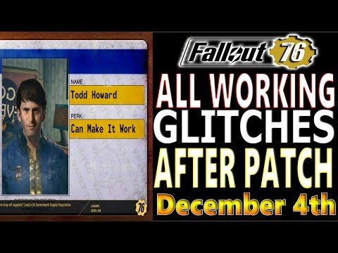 ALL WORKING GLITCHES AFTER PATCH | Fallout 76 | EXPLOITS THAT WORK | DECEMBER 4 CHANGES