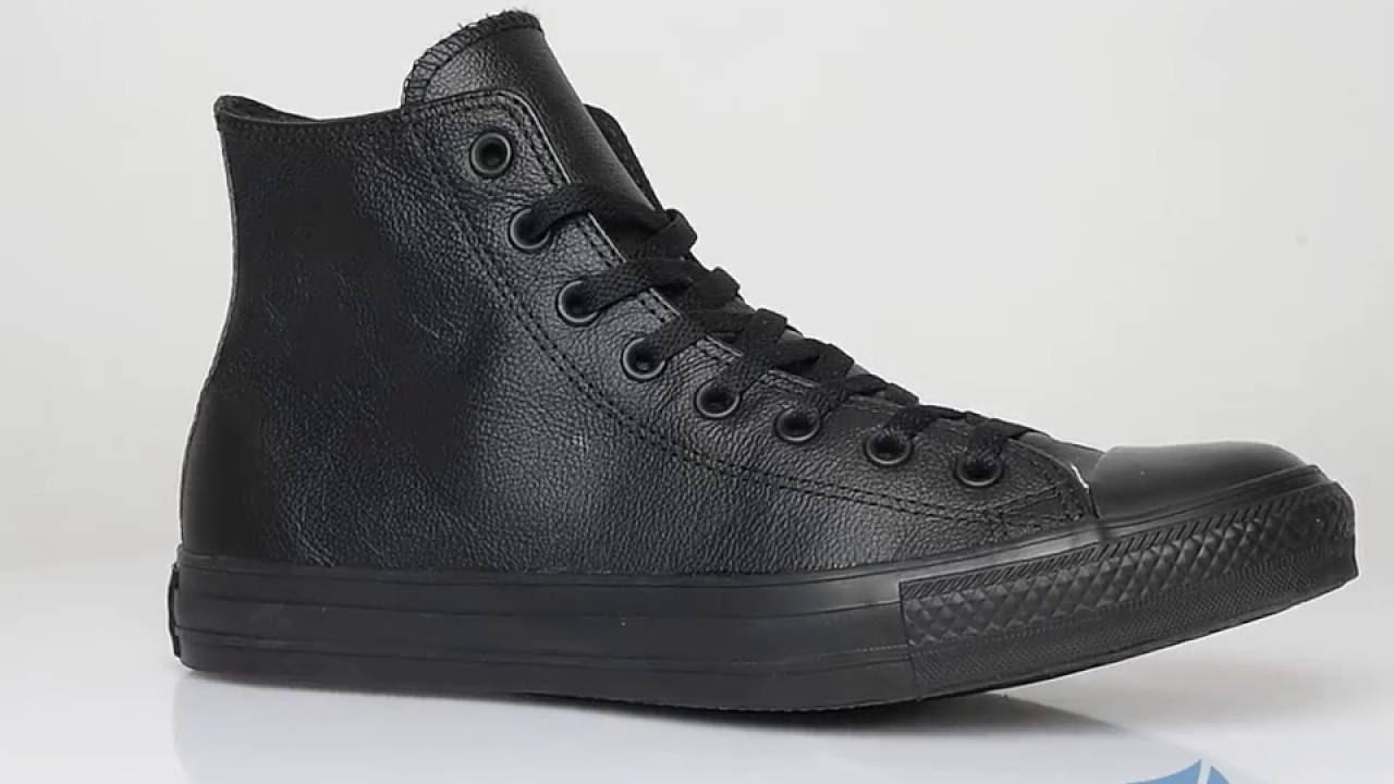 Converse Chuck Taylor All Star Monochrome Leather Hi Sportizmo