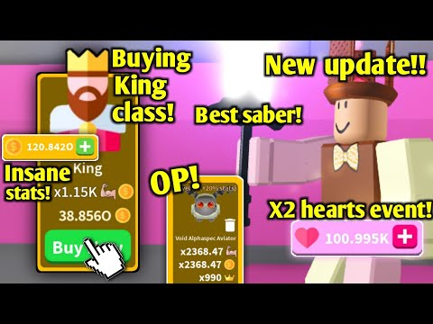 Buying The *KING* Class & Best Saber In The New Update! [ROBLOX SABER SIMULATOR]