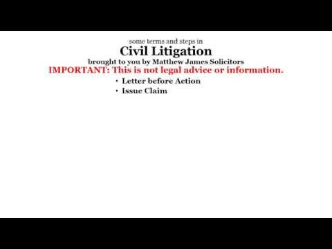 Steps in Civil Litigation