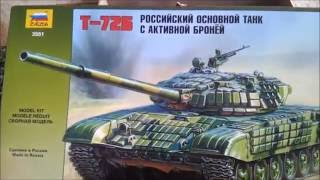 танк Т-72Б (ZVEZDA) scale 1\35...шаг1