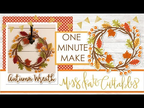 One Minute Make - Autumn Wreath Layered SVG How To DIY Tutorial with FREE SVG Files