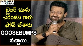 Prabhas About Mega Star Chiranjeevi's Reaction On Saaho Trailer || Shalimarcinema