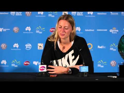 Petra Kvitova press conference (final) - Apia International Sydney 2015