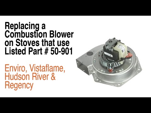 How To Replace An Exhaust Blower (50-901) On Many Pellet Stoves