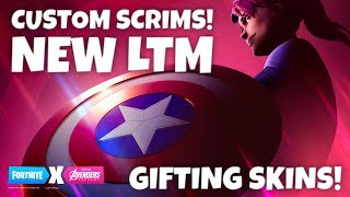 *NEW* CUSTOM MATCHMAKING (GIFTING SKINS)! LOOT LAKE EVENT HAPPENING NOW - FORTNITE AVENGERS