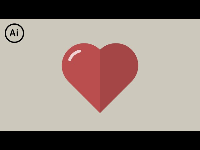 Flat Design Heart | Illustrator Tutorial