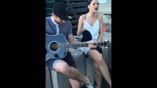 Jessie J - SINGING BANG BANG ACOUSTIC ON SET OF THE BANG BANG