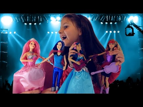 видео: кукла Барби Рок звезда из мультика Рок н Ройалс