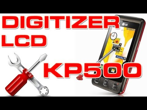 How to attach the digitizer and the screen to LG KP500 | 4K