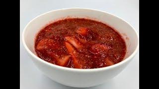 Клубничный десерт с семенами чиа | Веган рецепт с чиа и клубникой | Чиа пудинг