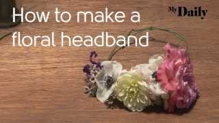 How to make a floral headband | MyDaily Advent Calendar Thumbnail