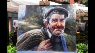 Faliero Marino Pittore -Le cabotin- canta Charles Aznavour