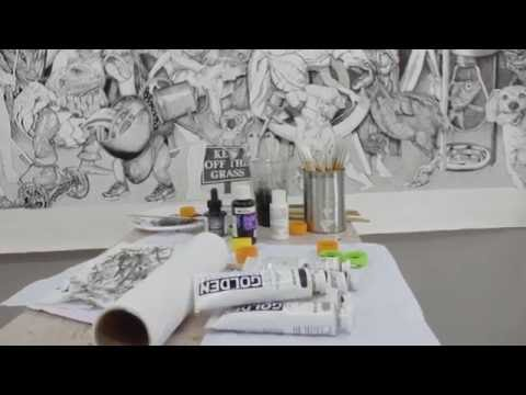 Inside an artist's studio Brett Neal