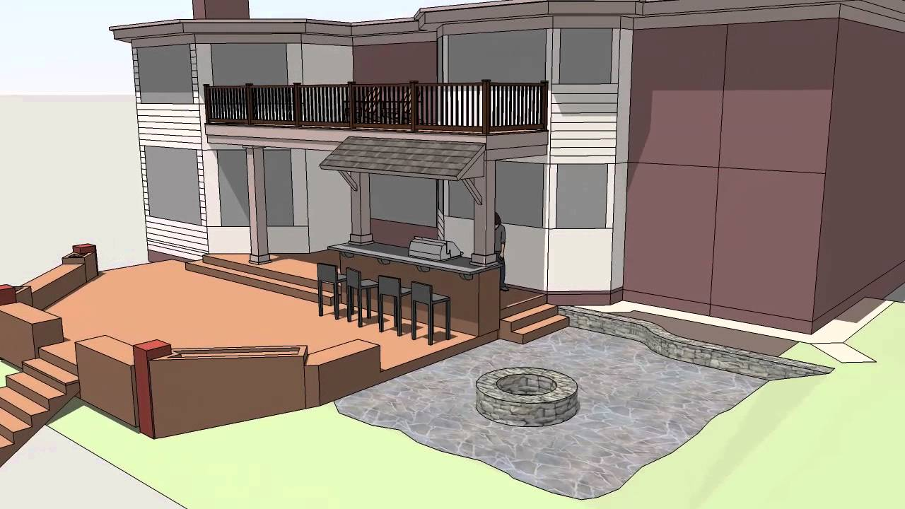Balcony kitchen concept youtube for Balcony concept