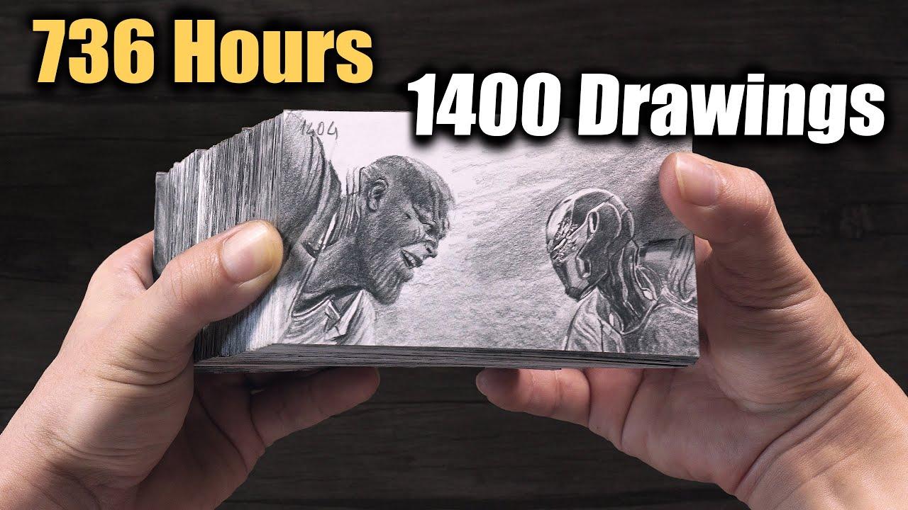 Thanos VS Iron Man - End Game FLIPBOOK - DP ART DRAWING