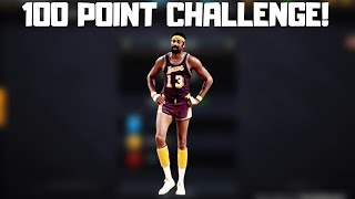 THE 100 POINT CHALLENGE IN NBA LIVE MOBILE 20!!!