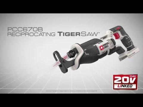 PORTER CABLE PCC670B 20-volt MAX Lithium Bare Reciprocating Tigersaw