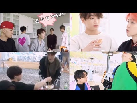 jungkook making sure jimin eats well