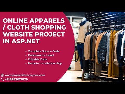 Online Apparels / Clothes Shopping Project in ASP.Net with C#.net with SQL Server image